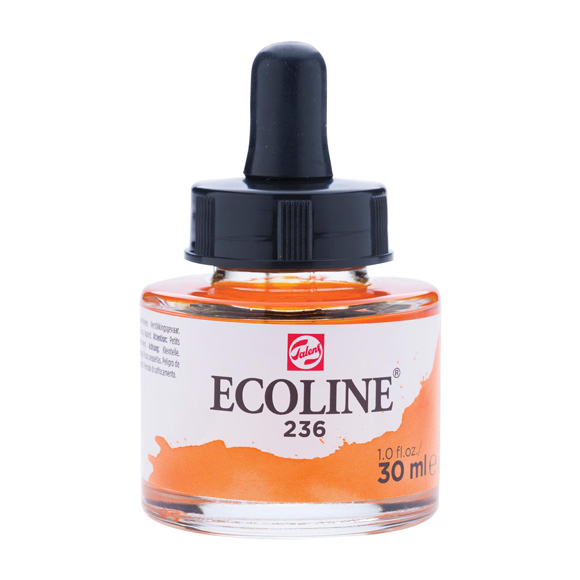 דיו נוזלי - Ecoline Ink 236 Light Orange