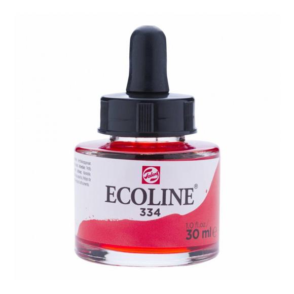 דיו נוזלי - Ecoline Ink 334 Scarlet