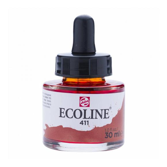 דיו נוזלי - Ecoline Ink 411 Burnt Sienna