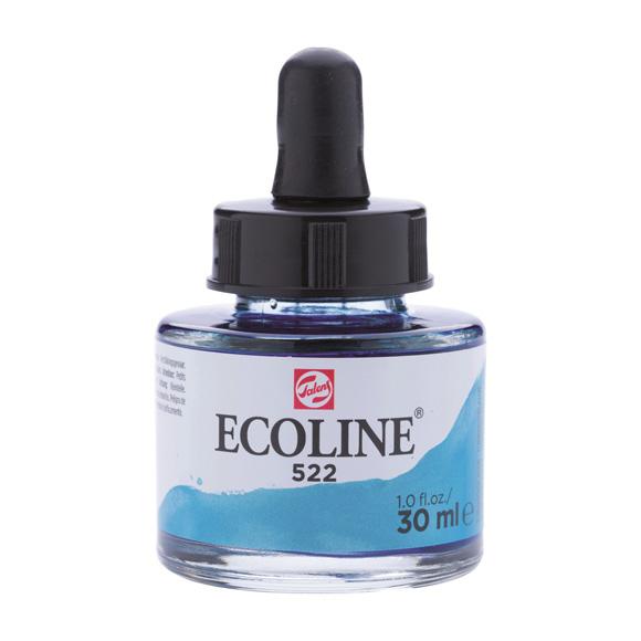 דיו נוזלי - Ecoline Ink 522 Turquoise Blue