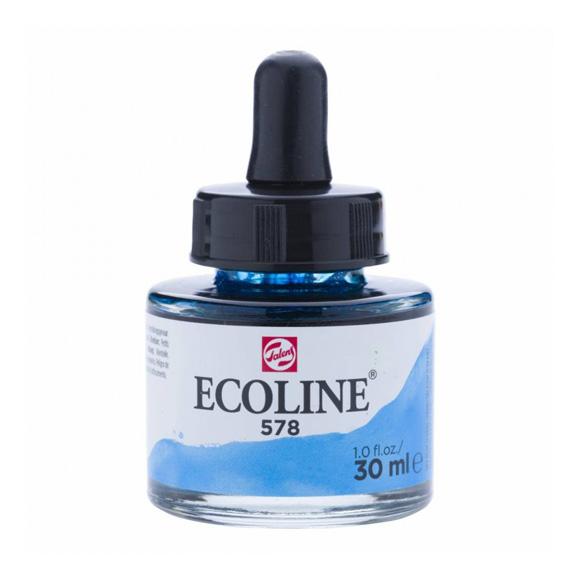 דיו נוזלי - Ecoline Ink 578 Sky Blue Cyan