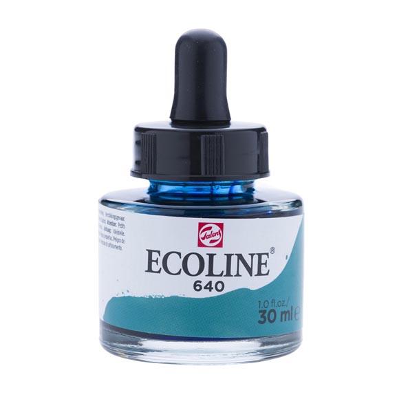 דיו נוזלי - Ecoline Ink 640 Bluish Green