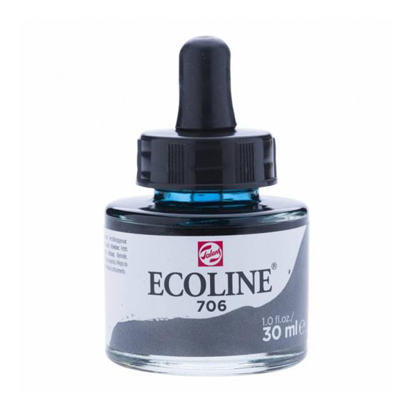 דיו נוזלי - Ecoline Ink 706 Deep Grey