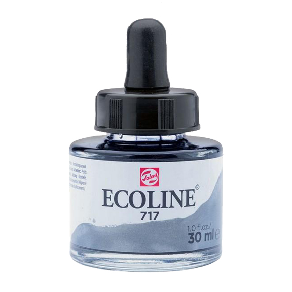 דיו נוזלי - Ecoline Ink 717 Cold Grey