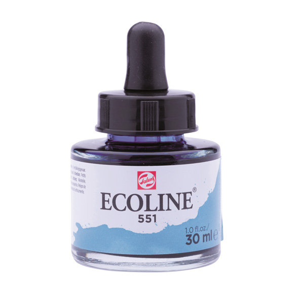 דיו נוזלי - Ecoline Ink 551 Sky Blue Light