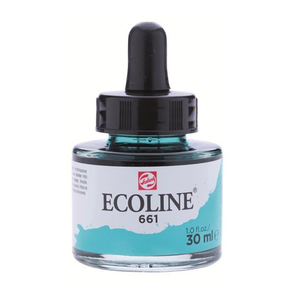 דיו נוזלי - Ecoline Ink 661 Turquoise Green