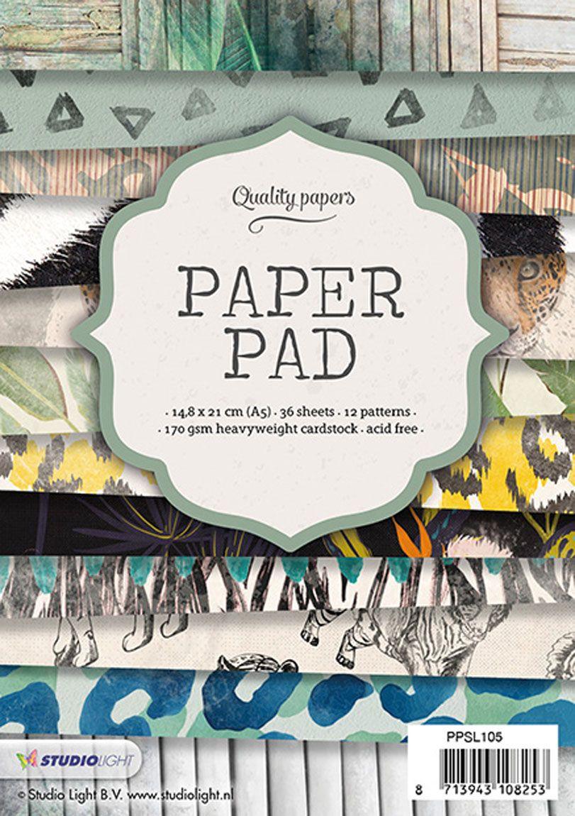 מארז דפי קארדסטוק Paper Pad Bloc - Wild textures A5