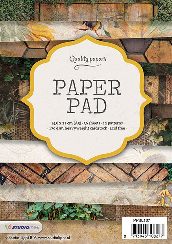 מארז דפי קארדסטוק Paper Pad Bloc - Textures A5