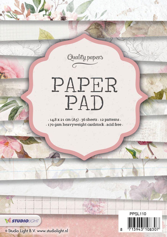 מארז דפי קארדסטוק Paper Pad Bloc - Romantic A5