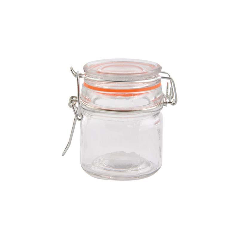 """צנצנת זכוכית עם מכסה וואקום- 150 מ""""ל"""