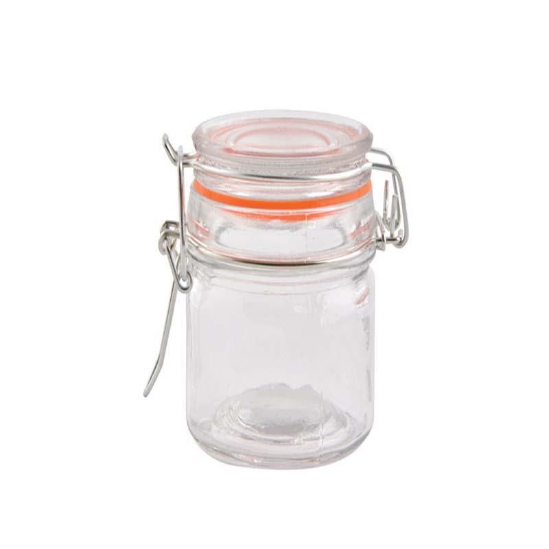"""צנצנת זכוכית עם מכסה וואקום- 230 מ""""ל"""