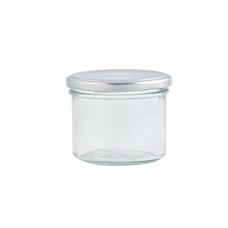 """צנצנת זכוכית עם מכסה - 125 מ""""ל"""