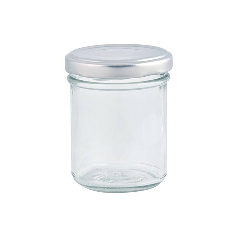 """צנצנת זכוכית עם מכסה - 200 מ""""ל"""