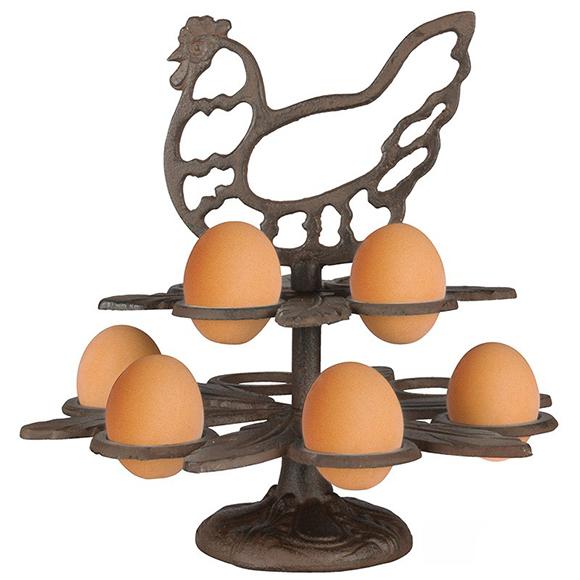 מעמד לביצים מברזל יצוק