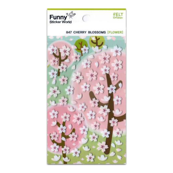 מדבקות לבד Funny Sticker - Cherry Blossoms