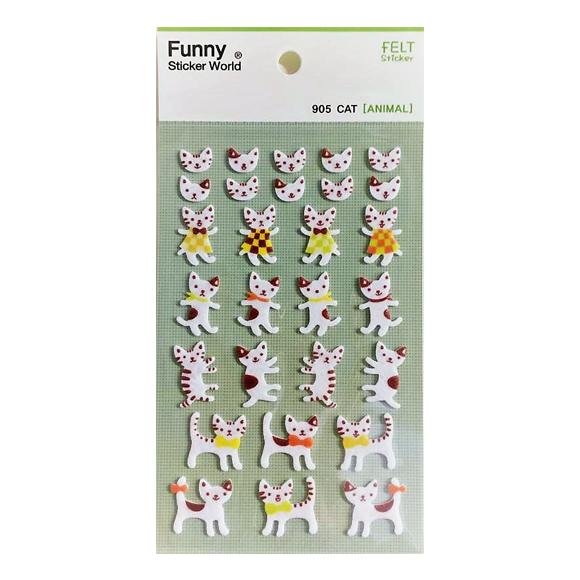 מדבקות לבד Funny Sticker - Cat