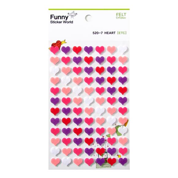 מדבקות לבד Funny Sticker - Heart 7