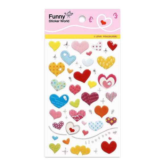 מדבקות אפוקסי Funny Sticker - I Love You