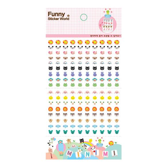 מדבקות שקופות Funny Sticker -Minimi