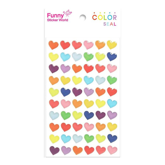 מדבקות אפוקסי Funny Sticker - Color Heart