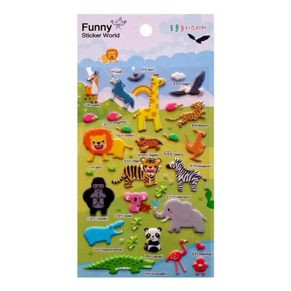 מדבקות פאף Funny Sticker -Animal