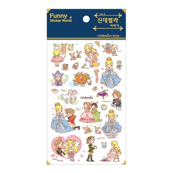 מדבקות שקופות Funny Sticker -Cinderella