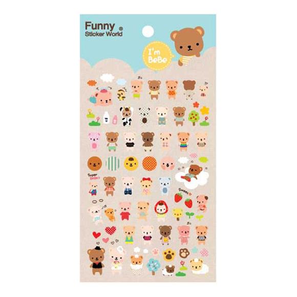 מדבקות אפוקסי Funny Sticker - Bebe