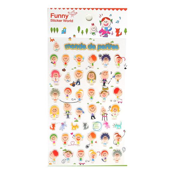 מדבקות אפוקסי Funny Sticker -Monde De Petites