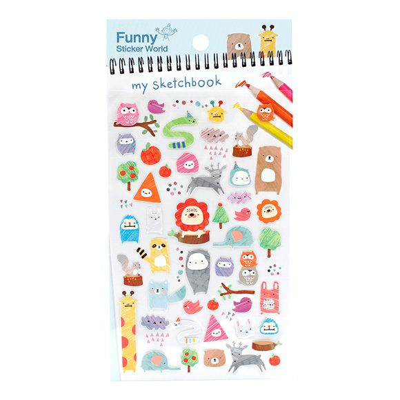 מדבקות ניייר Funny Sticker -My Sketchbook