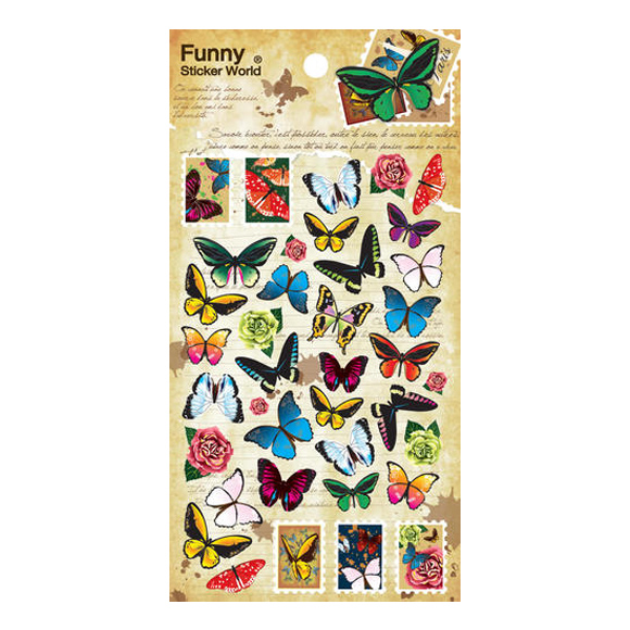 מדבקות ניייר Funny Sticker -Butterfly