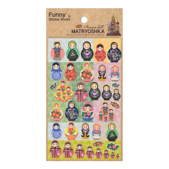 מדבקות ניייר Funny Sticker -Matryoshka