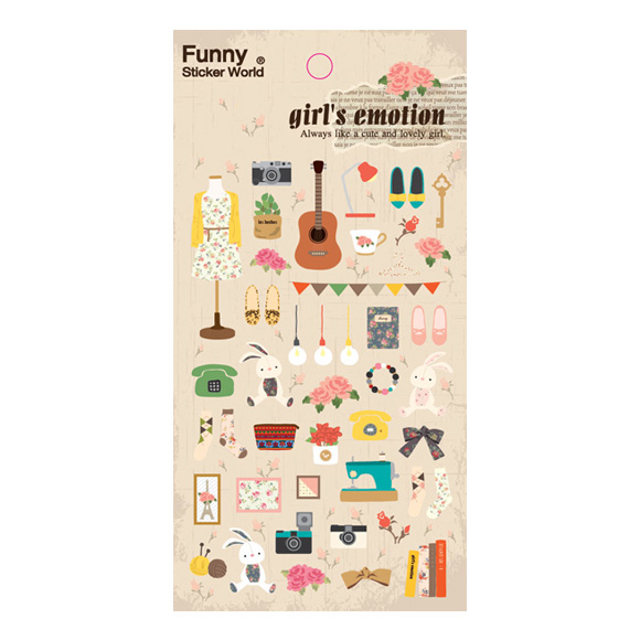 מדבקות ניייר Funny Sticker -Girl's emotion