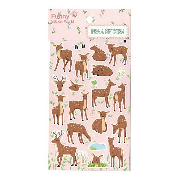 מדבקות נייר Funny Sticker -Dear My Deer