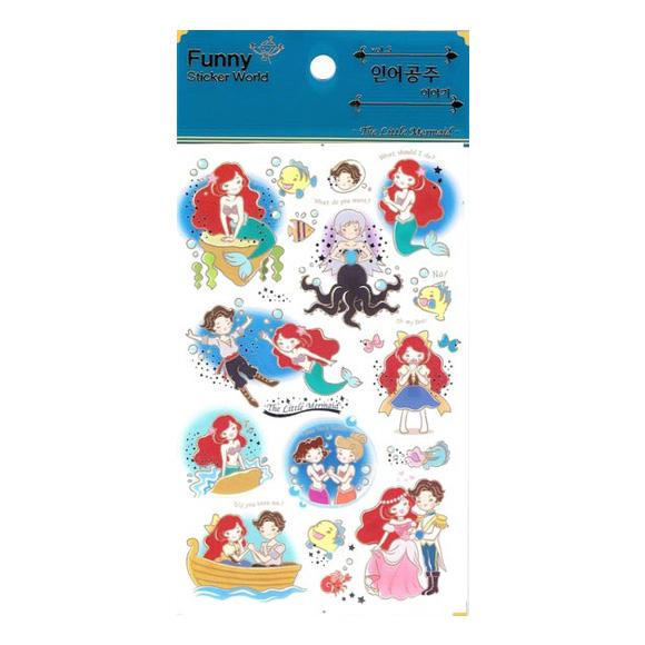 מדבקות ניייר Funny Sticker -The Little Mermaid