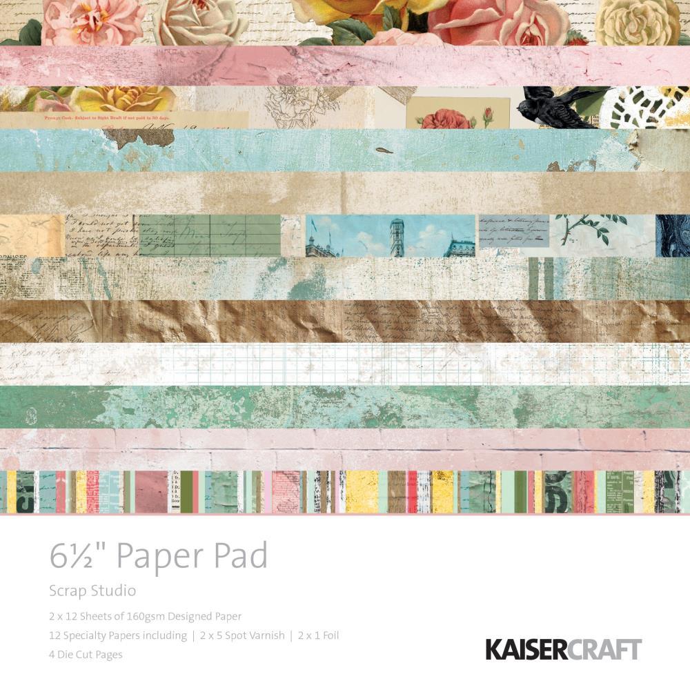 "מארז דפי קארדסטוק ""6 Scrap Studio Paper Pad"