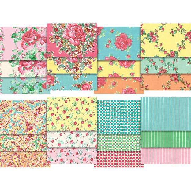 מארז בדים חתוכים: Sugar Bloom-Verna Mosquera Charm Pack