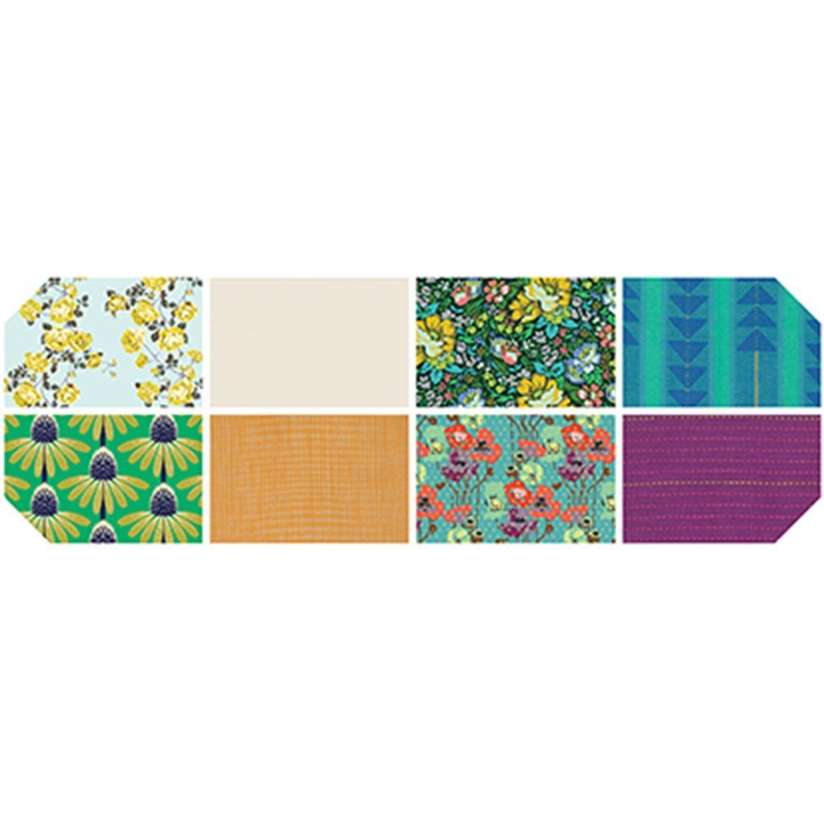 מארז רבעים שמנים - Anna Maria Horner - Floral Retrospective - 8pcs - Morning
