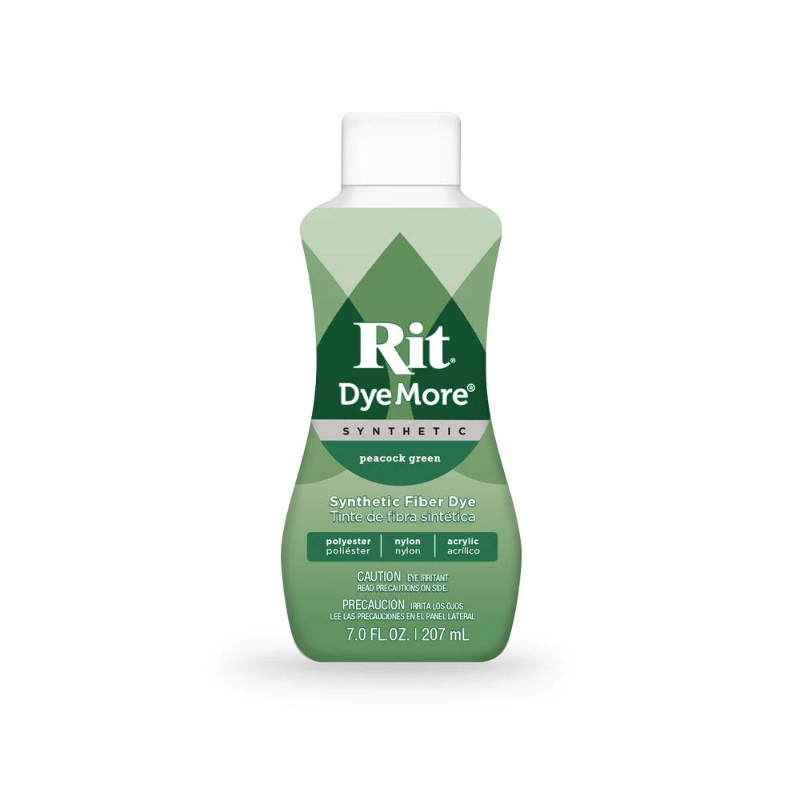 צבע לבדים סינטטיים Rit Dye More Synthetic - Peacock green