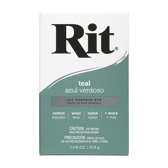 אבקת צבע לבדים Rit Dye Powder - Teal