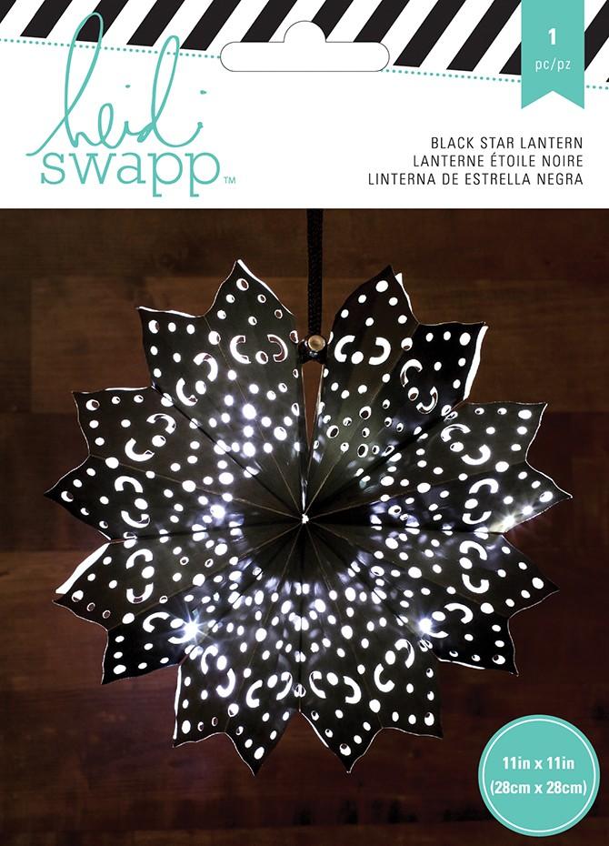 Paper Lanterns - Small - 8 Point - Black