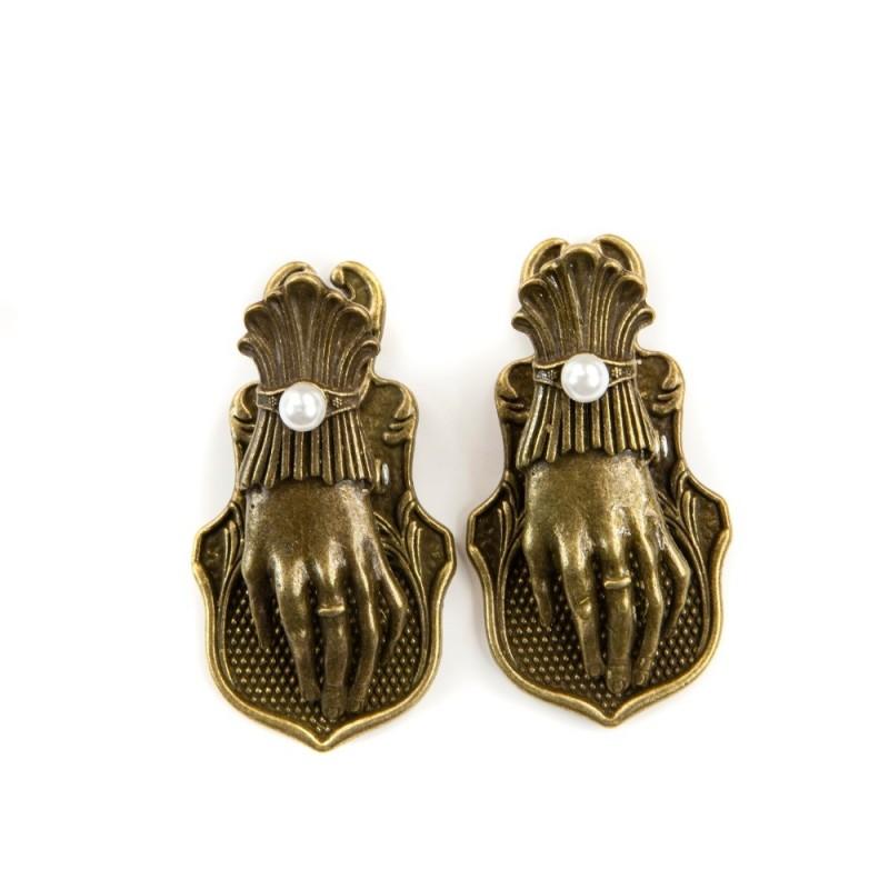 קליפסים ממתכת - Victorian Hand Clips