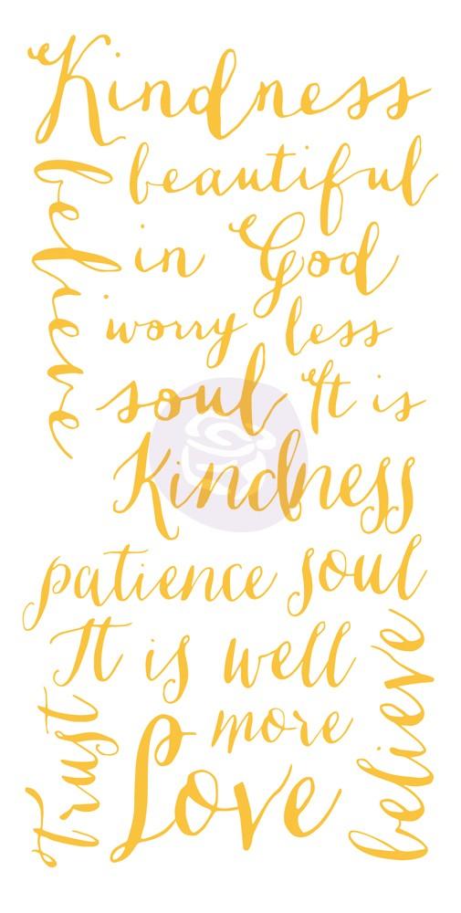 Adhesive Rub-ons - Kindness Words
