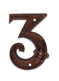 מספרי בית מברזל יצוק - הספרה 3