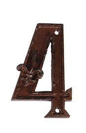 מספרי בית מברזל יצוק - הספרה 4