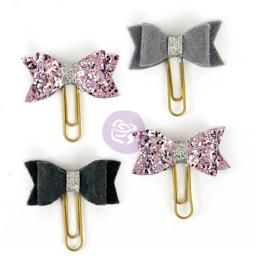My Prima Planner Clips - Silver Violet