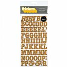Thickers Chipboard Glitter Stickers - Roller Rink - Tangerine Gold