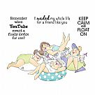 Girlfriends Cling Rubber Stamps - Stayin' Afloat Set