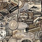 בד כותנה - Eclectic Elements Tim Holtz - Travel