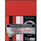 "Value Pack Smooth Cardstock 8.5""X11"" - Parisian Nights"