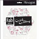 "Shabbylicious - 6""X6"" Hexagons - Pink"